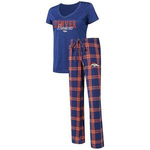 Women's Pajama Set w/ Flannel Pants and T-Shirt